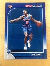 RJ BARRETT 2019-20 Panini NBA Hoops #201 RC Rookie SP Knicks Blue Parallel - $11.88