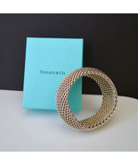 Tiffany Sterling Wide Chunky Mesh Collection Chunky Bangle Bracelet - $420.75