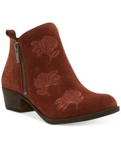 Lucky Brand Women's Basel Embroidery Booties (Red Oak,  8m) - $91.00
