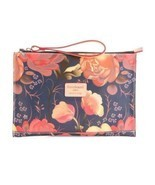 CAVALCANTI  Made In Italy  Leather Rose Clutch Cosmetic Bag NWT - $945,69 MXN