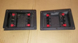 6UU31 PAIR OF SPEAKER TERMINAL, DAMAGE TO ONE CORNER, VERY GOOD CONDITION - $18.66