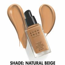 Avon True Colour Flawless Liquid Foundation SPF15 -1 oz - 30 ml / NATURAL BEIGE - $19.95