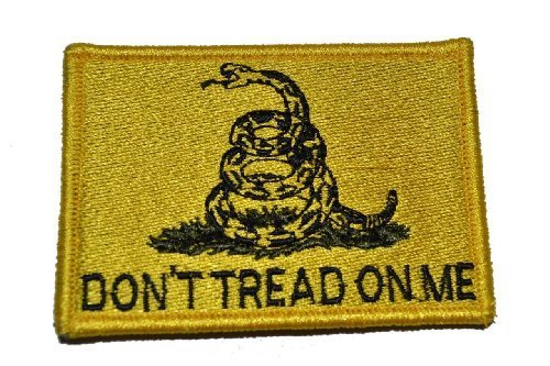 Don't Tread On Me Gadsden Flag 2x3 Military Patch / Morale Patch - ACU
