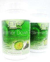 Slimmer Down | 1000mg Garcinia Cambogia Extract  by Elixer Naturals 2 Pa... - $69.25