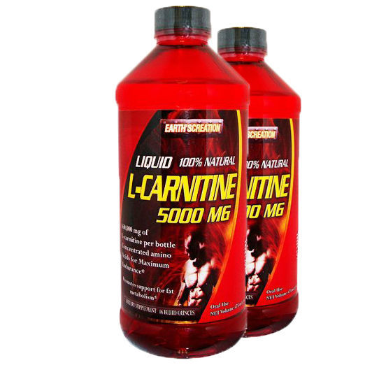 Liquid L-Carnitine 5000 Mg, 16 Oz (32 Servings) 2PK by Earth's Creation, USA