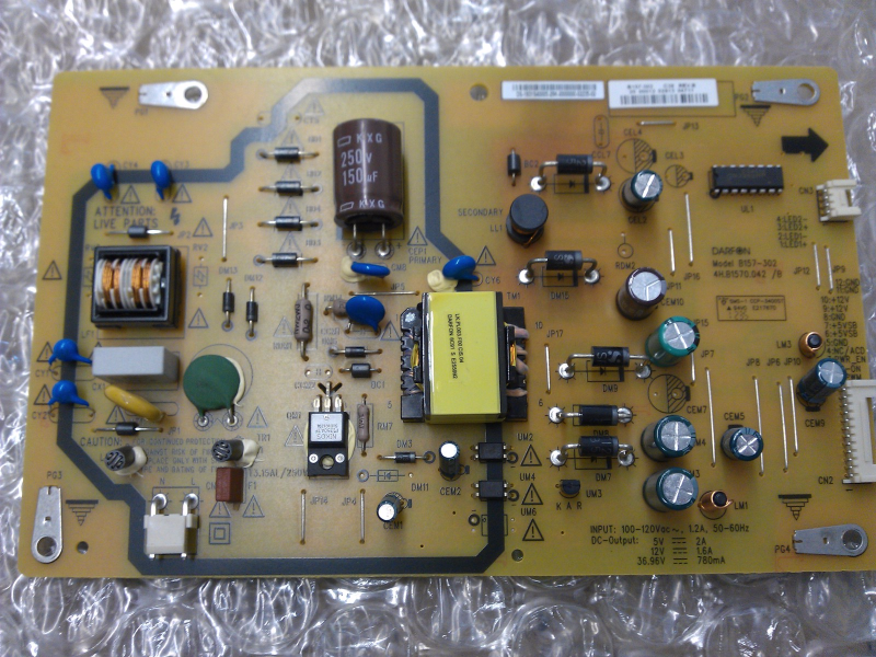 19.31S40.005 Power Supply Board From Insignia NS-32D120A13 LCD TV