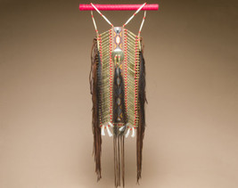 NATIVE AMERICAN HANDMADE Warrior Breastplate Pueblo Indian Style Adult Size - $499.00