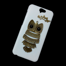 3D Cute Retro Metal Bronze Owl Branch Back Hard Skin Case Cover for HTC One A9 - $7.99