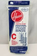 Genuine Hoover Vacuum Cleaner Bags Type C Lot of 4 Bags 4010003C NEW Sealed - $9.74