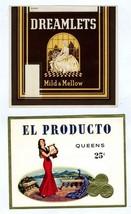 10 Original Unused Cigar Box Labels and 7 Cigar... - $13.86