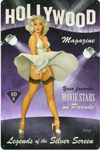Hollywood Magazine Pin-Up  Metal Sign - $25.95