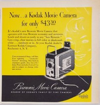 1952 Print Ad Kodak 8mm Brownie Movie Cameras Eastman Rochester,NY - $10.87