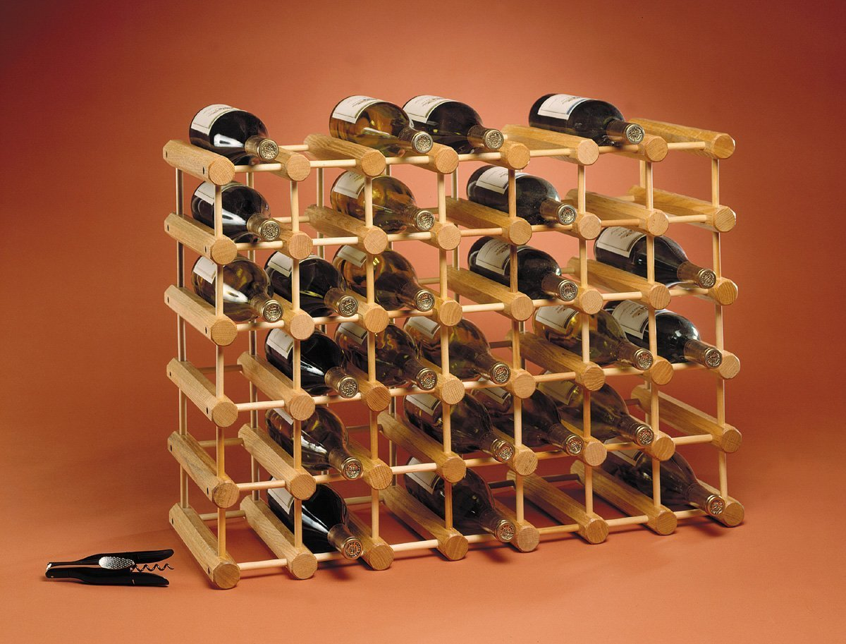 Wine rack wood liquor bottle bar holder storage display for Wine shelves ikea