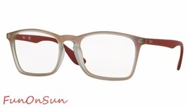 Ray Ban Eyeglasses RB7045 5485 Matte Red Big Square Frame 55mm Authentic - $77.59