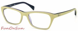 Ray Ban Eyeglasses RB5298 5387 Cream Purple Rectangle Frame 53mm Authentic - $77.59