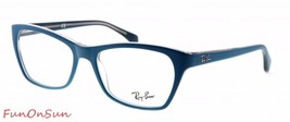 Ray Ban Eyeglasses RB5298 5391 Matte Blue Rectangle Frame 53mm Authentic - $77.59