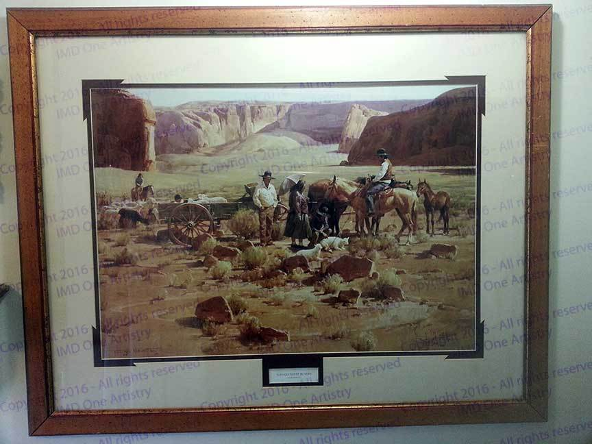 "Gary Niblett ""Navajo Sheep Buyers"" SN 904/950"