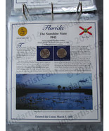 Postal Commemorative Society Statehood Quarters Collection Florida page - $10.00