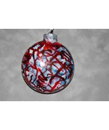 "3"" glass disc ornament - $20.00"