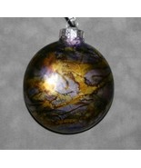 "3"" MetalStorm Wave glass disc ornament - $20.00"