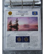 Postal Commemorative Society Statehood Quarters Collection Minnesota page - $10.00