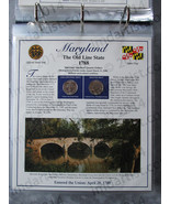 Postal Commemorative Society Statehood Quarters Collection Maryland page - $10.00