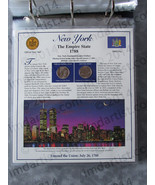 Postal Commemorative Society Statehood Quarters Collection New York page - $10.00