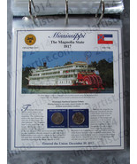 Postal Commemorative Society Statehood Quarters Collection Mississippi page - $10.00