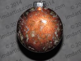 "3"" glass disc ornament - $20.00"