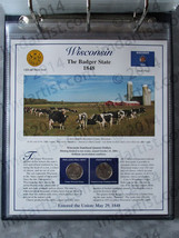 Postal Commemorative Society Statehood Quarters Collection Wisconsin page - $10.00