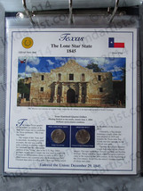 Postal Commemorative Society Statehood Quarters Collection Texas page - $10.00