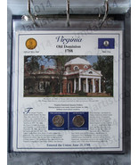 Postal Commemorative Society Statehood Quarters Collection Virginia page - $10.00