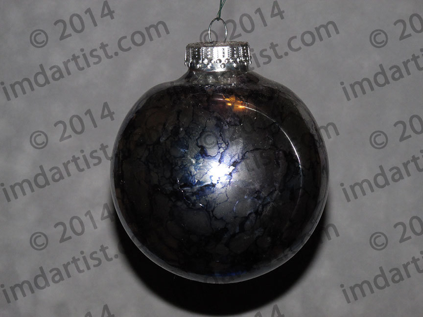 "3-3/4"" round glass ornament"