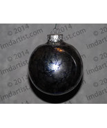 "3-3/4"" round glass ornament - $25.00"