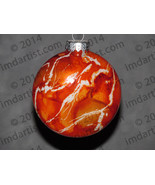 "3"" Creamsicle glass disc ornament - $20.00"