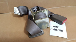 1997-01 Toyota Camry Rear Middle Buckle Seat Belt Brown Oem 97tc2 - $47.02