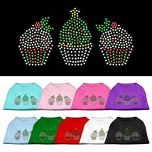 CHRISTMAS CUPCAKES Dog Shirt * Rhinestone Puppy Love Pet Tee Merry Holiday - €12,29 EUR+