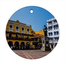 Cartagena Colombia Round Porcelain Ornament - Holiday Seasons - $7.71