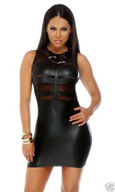 Forplay The Daring Sleeveless Illusion Matte Black Mini Dress - $39.99