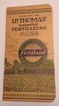 1925 I. P. Thomas' Guaranteed Fertilizers Advertising Notebook Mantua NJ... - $45.00
