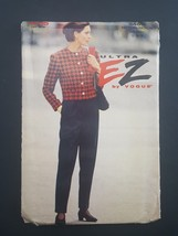 VOGUE Ultra EZ Sewing Pattern 8465 Misses Petite Jacket and Pants 12 14 16 - $6.95