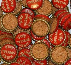 Soda pop bottle caps Lot of 12 HIRES root beer SPECIAL SALE cork new old... - $7.99