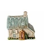Cottage figurine Japan vtg house global art Wade style village ceramic t... - $14.80