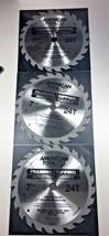 "American Tool 3 PCS 7-1/4"" X 24 Teeth Carbide Saw Blade 5/8 x 13/16 knoc... - $23.76"
