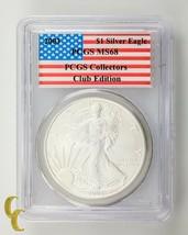 2003 Argento 1 oz American Eagle $1 PCGS Collezionisti Edizione Club Gra... - $49.28