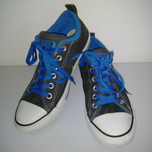 CONVERSE ALL STAR Gray Blue White Low Top Shoes Thick Tongue Mens 7 Womens 9 image 1