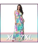 NEW Women Summer Oversize V-Neck Boho Long Maxi Beach Dresses Sundress P... - $28.99
