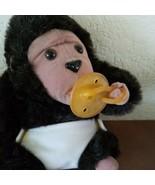 Russ Bungo with Pacifier and Diaper Plush Monkey Gorilla Ape Stuffed Ani... - $11.83