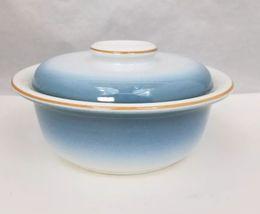 Nikko Gradiance Cereal Soup Bowl Lid Set of 4 Azure Leafette Dish Microwave Safe image 5
