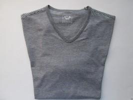 APT.9 Feeder Stripe V-Neck Short Sleeve Men's T-Shirt Dark Gray M MSRP $28 - $12.91